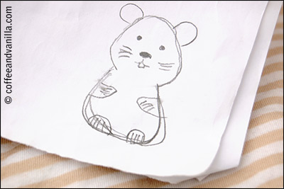 drawing of a hamster