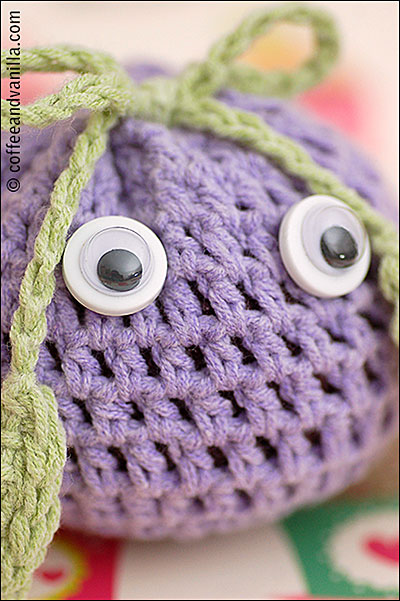 DIY crochet toy with googly eyes