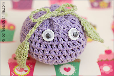kawaii cute crochet toy apple
