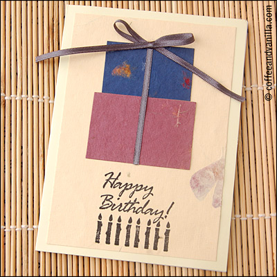 mulberry paper DIY card hand-made