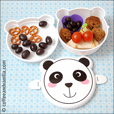 kawaii panda bear lunch box