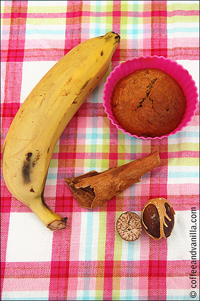 kid's cooking banana muffins
