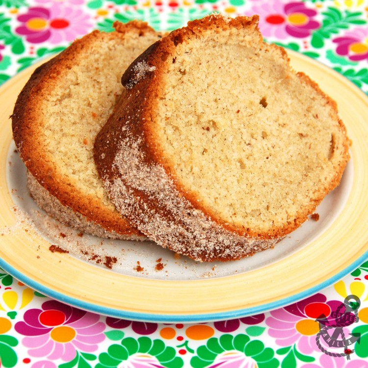 cinnamon nutmeg cake with cinnamon sugar