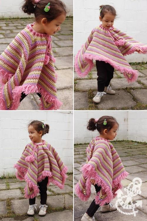 crochet square poncho free pattern
