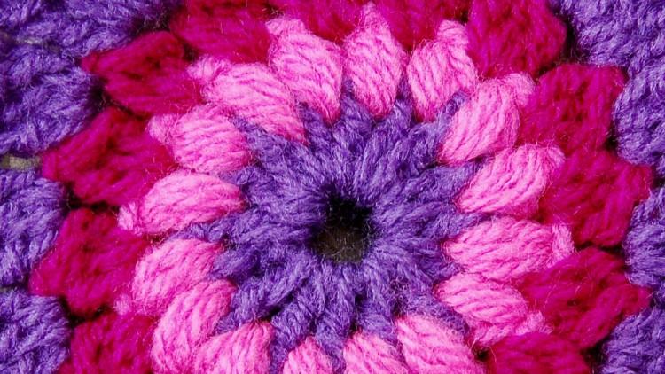 Sunburst – Flowery Granny Square Crochet Pattern