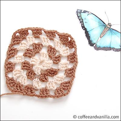 double crochet granny square