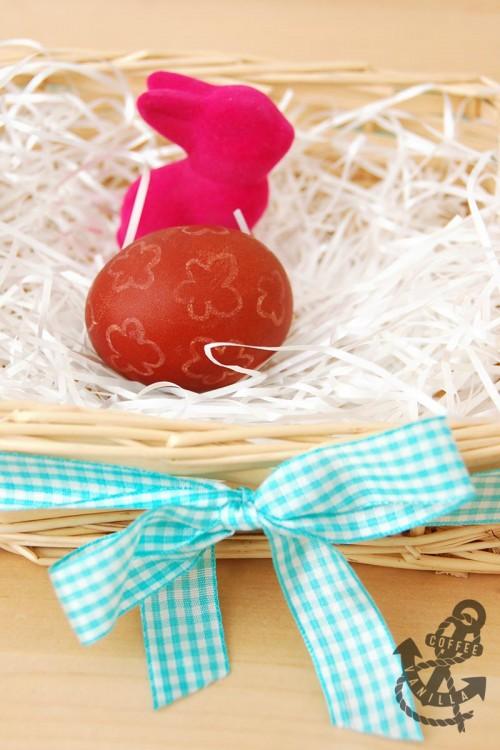wax egg decoration