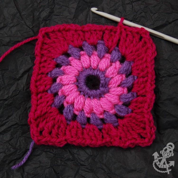 granny square free crochet pattern how to make puff stitch creating puff stitch