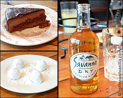 chocolate mouse cake South African Savanna Dry Cider