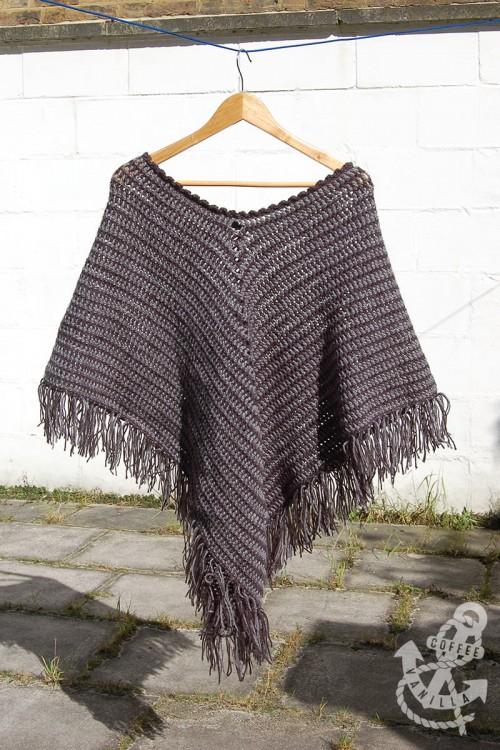 two tone crochet poncho crochet cape