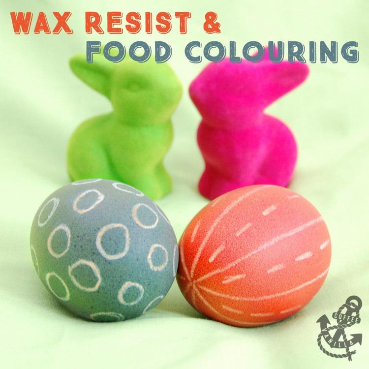 decorated with wax