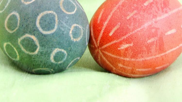 Wax Resist & Food Colouring Egg Dye