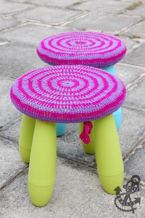 easy crochet stool covers