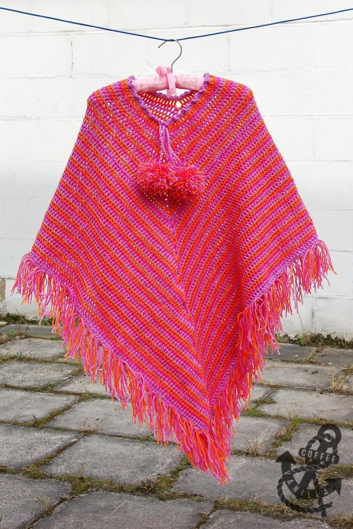 how to crochet poncho