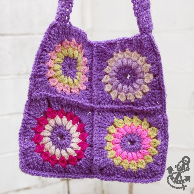 granny square bag tutorial
