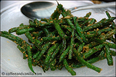 green beans with garlic and soy sauce