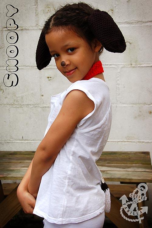 crochet Snoopy Peanuts costume