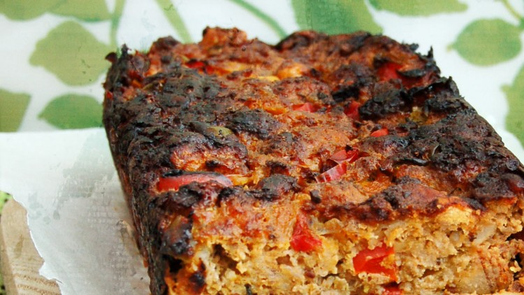 Turkey Meatloaf with Mixed Bell Peppers & Whole Grain Dijon Mustard