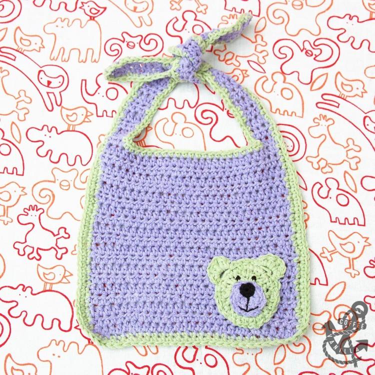 crochet teddy bear motif