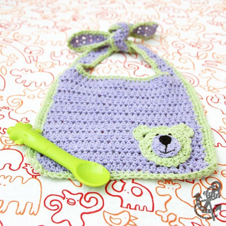 free crochet pattern for baby bib