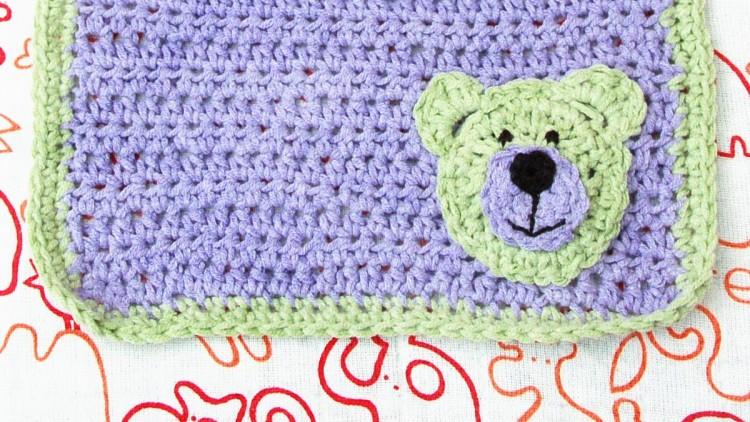 Cute Baby Bib with Teddy Bear Motif – Crochet Pattern
