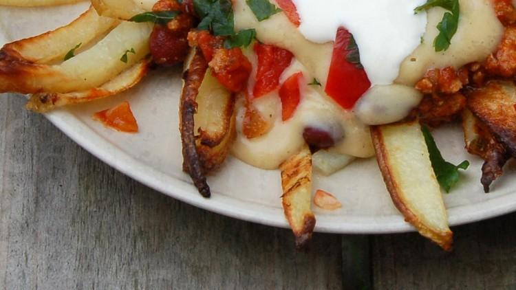 Home-made Oven Baked Fries Supreme / Papas Supreme à la Taco Bell