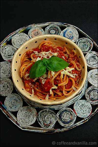 spaghetti Bolognese recipe from scratch with addition of liquid smoke