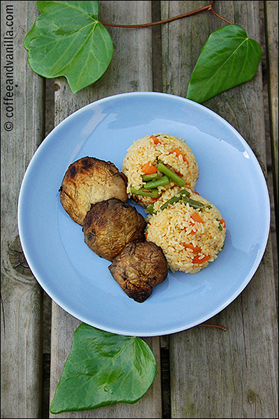 simple rice recipe for  BBQ meats and vegetables can be easily prepared in advance or outdoors