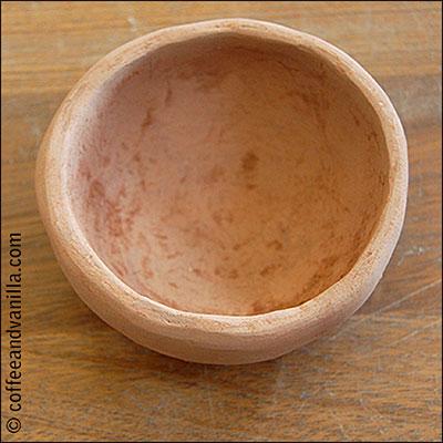 handmade terracotta bowl