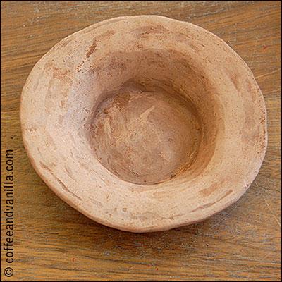 handmade terracotta plate