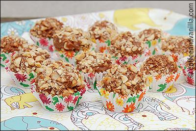 chocolate and hazelnut truffles