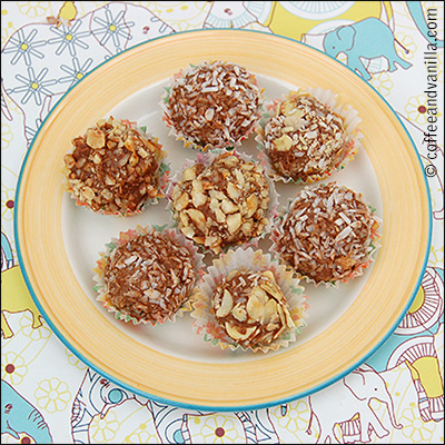 Indian ladoo truffles recipe