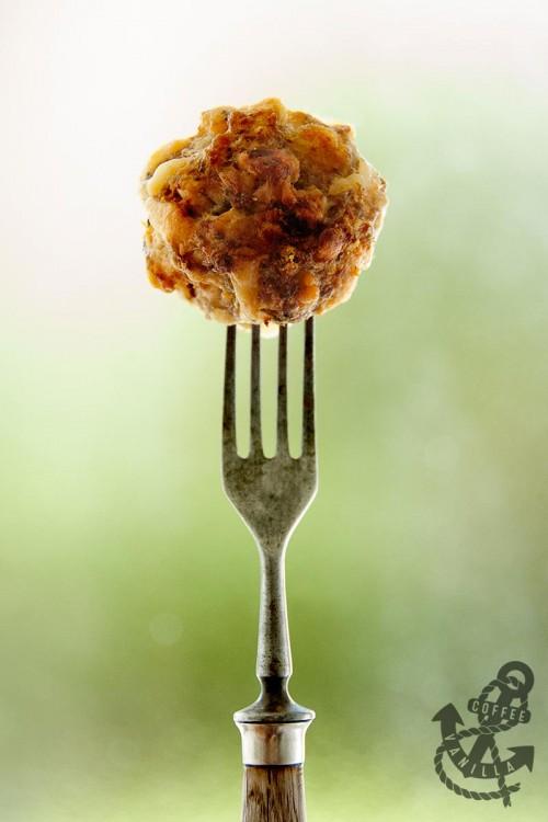 meatball turkey mince fork cheese meatballs