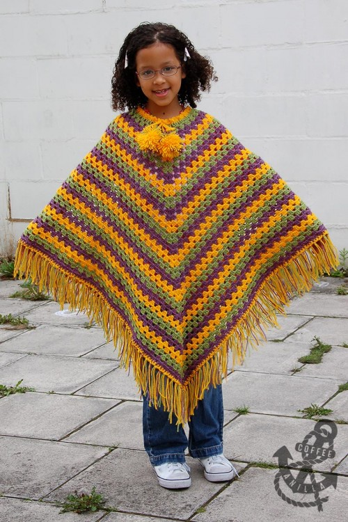 how to crochet a poncho free pattern
