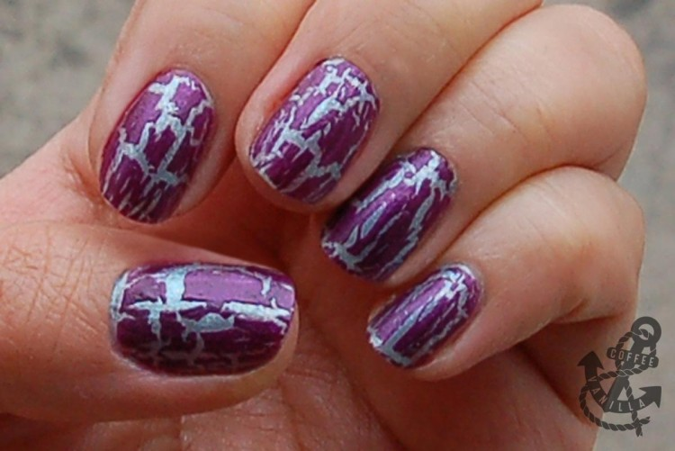 purple shatter nail polish