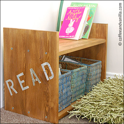 simple low budget reading corner for kids