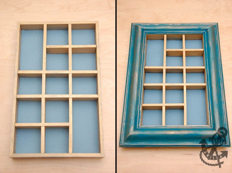 painting old wooden box frame