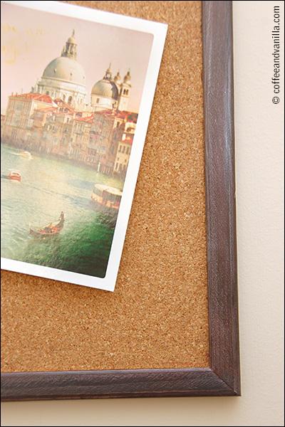 cork board acrylic metallic paints