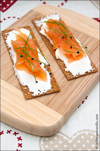 garlic chive sourdough rye crispbread smoked salmon