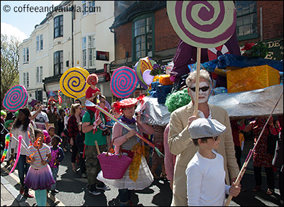 children parade Brighton Festival May 2014