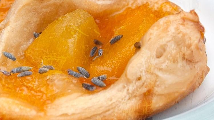 Mini Peach & Lavender Pastries