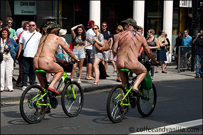 naked bike ride Brighton North Street