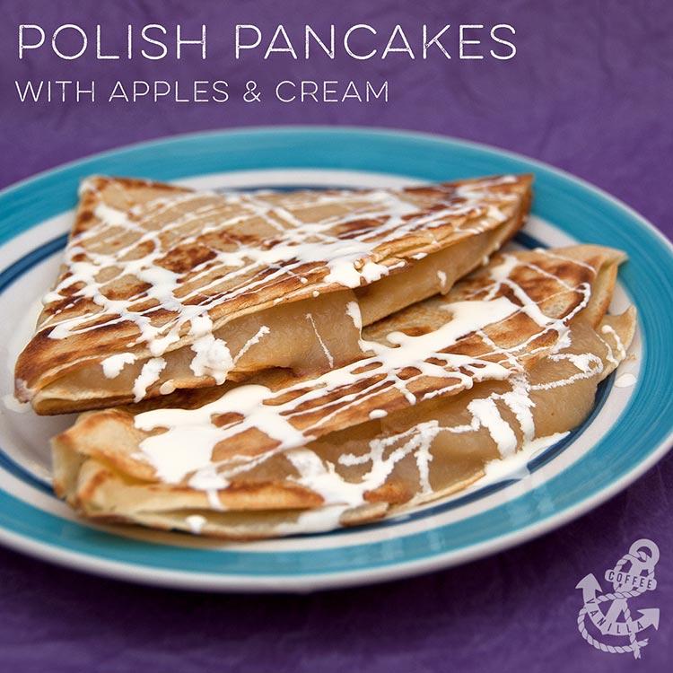 breakfast pancake apples puree cream summer