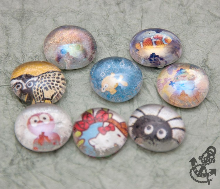 how to decorate glass beads pebbles gems nuggets flat marbles
