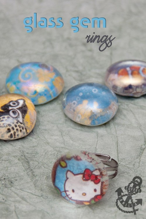 how to make glass gem glass bead glass pebble rings