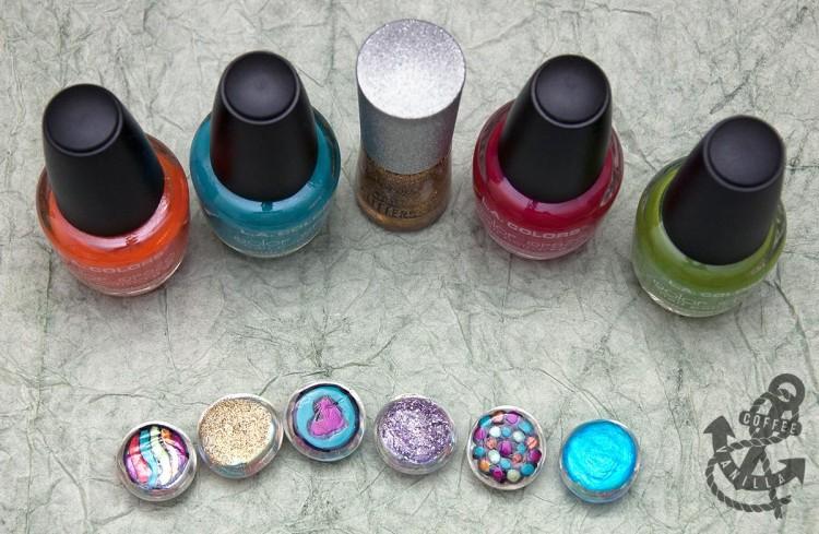 decorating glass pebbles with nail polish