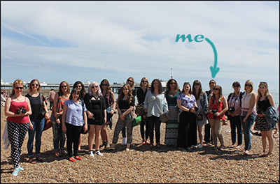 bloggers on Brighton seafront
