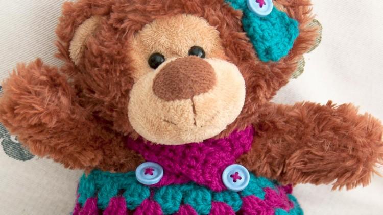 Teddy Bear's Tea Party Dress & Hair Bow – Crochet Pattern