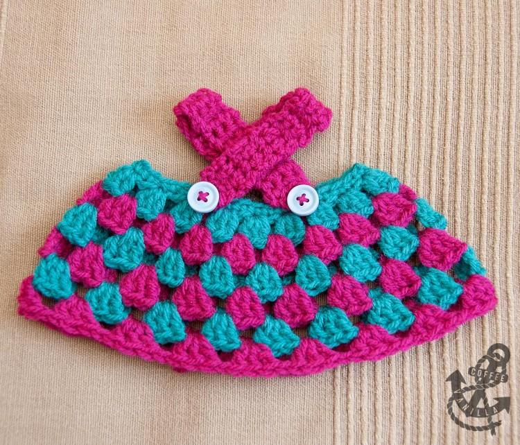 dolls uk treble us double crochet dress teddy outfit