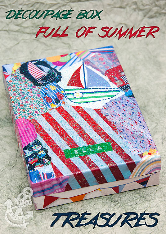 DIY treasure box summer holidays nursery show and tell